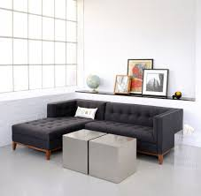L Shaped Wooden Sofas Grey Sofa With Cushions Also Yellow Wall Paint Decoration White