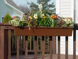 Patio Planter Box Plans by Decor Stylish Deck Rail Planters For Outdoor Decoration Ideas
