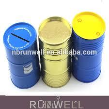 Customized Piggy Bank Customized Design Cylinder Shape Metal Tin Piggy Bank For Public