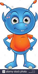 a cartoon illustration of a cute little light blue alien character