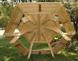 Build Your Own Octagon Picnic Table by Hexagon Picnic Table