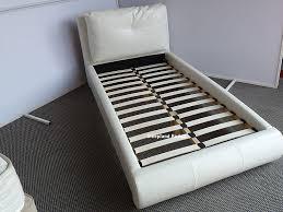 Single Leather Bed Frame White Single Leather Beds Sleepland White Merida Cushion Bed Frame