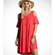 cold shoulder dress 14 dresses skirts coral cold shoulder dress from