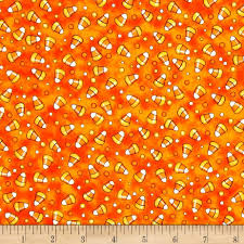 creepy hollow candy corn orange discount designer fabric
