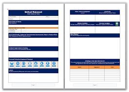 assessment templates blank method statement and risk assessment template pack