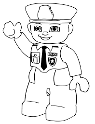 cartoon coloring pages lego police person lego police and craft