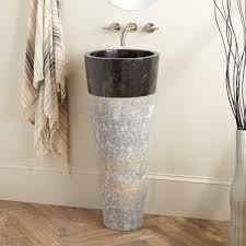 Pictures Of Pedestal Sinks In Bathroom by Winchester Java Black Marble Pedestal Sink Bathroom