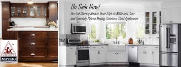 White Kitchen Cabinets Shaker Style White U0026 Java Shaker Kitchen Cabinets U0026 Maytag Sale Kitchen