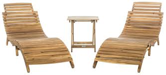 Outdoor Wood Chaise Lounge Macon 2 Piece Teak Outdoor Chaise Lounge Chair Set Whitewash