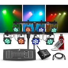 guitar center dj lights chauvet dj lighting package with two 4bar tri usb led fixtures dmx