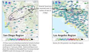 Ucsd Campus Map Recent Rainy Week In San Diego County U2013 Center For Western Weather