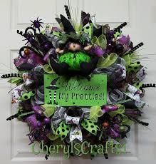 Witch Wreath Halloween by Halloween Wreath Halloween Decor Halloween Witch Wreath