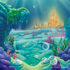 8x8ft princess ariel mermaid photography background