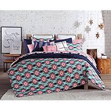 Tribal Pattern Comforter Amazon Com 3 Piece Girls Blue Pink Southwest Comforter Full