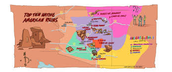 Map Of Phoenix Arizona by Top Ten Most Interesting Native American Ruins And Vanished Cultures