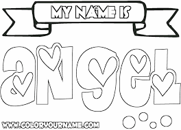 my name coloring pages angel coloring page