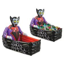 inflatable halloween cat amazon com beistle inflatable vampire and coffin cooler 3 feet 6