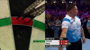watch gerywin price u0027s blind 180 at world matchplay darts darts
