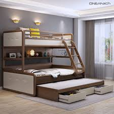 New Bunk Beds China Modern New Style Solid Wood Furniture Bunk Beds