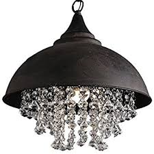 Vintage Wrought Iron Chandeliers Baycheer Hl371927 Vintage Style Iron Shaded Glittering Large