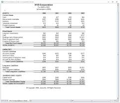 excel balance sheet template free download
