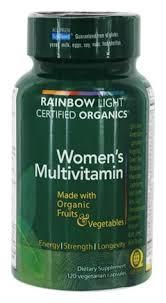 rainbow light multivitamin side effects buy rainbow light certified organics women s multivitamin 120