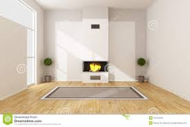 modern fireplace in a empty room stock illustration image 45723410