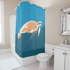 Sea Turtle Bathroom Accessories Shop Sea Turtle Shower Curtain On Wanelo