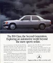 1989 mercedes 190e and 190d ad classic cars today online