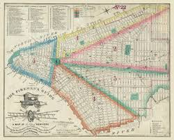 High Line New York Map by Vintage Firemen U0027s Map Shows Nyc From 1834 Knowol