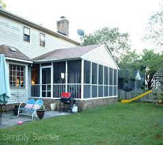 screened porch screened in porch makeover reveal phase 1 simply swider