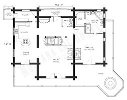 floor plans for log homes mlh 034 montana log homes