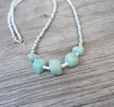 long beads necklace images Aqua gem mint long necklace aqua stone necklace long beaded jpg