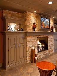 Decorations Tv Over Fireplace Ideas by Best 25 Basement Fireplace Ideas On Pinterest Stone Fireplace