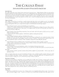 cover letter college essay format template college essay outline