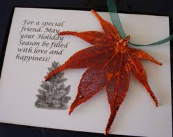 copper maple leaf etsy
