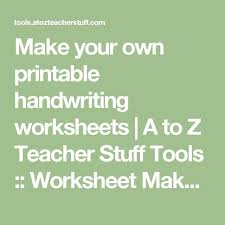 en iyi 17 fikir handwriting worksheet maker pinterest u0027te