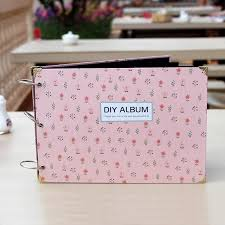 photo album pages sticky handmade 10 inches diy photo album foral cover family sticky type