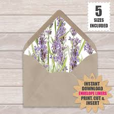 how to make your own envelope lavender flowers diy european style envelope liners purple