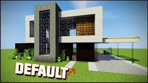 Modern Houses Minecraft Minecraft How To Build A Default Modern House Youtube