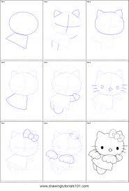 drawing kitty step step drawing art ideas