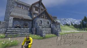 small houses that look like castles medieval engineers on steam