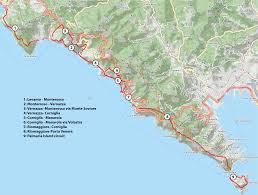 Manarola Italy Map by The Walks Cinque Terre Walks