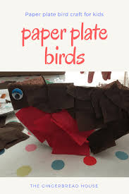 paper plate bird craft for kids gingerbread house co uk