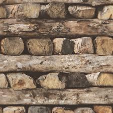 rustic wood rasch log pattern wallpaper rustic wood stripe motif fauxeffect 931808