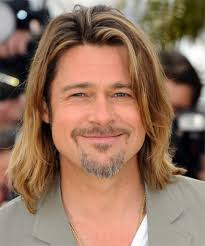 brad pitt long hairstyle brad pitt long straight casual hairstyle
