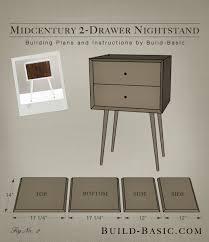 build a diy midcentury 2 drawer nightstand u2039 build basic