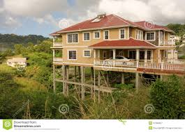 ordinary modern hillside home plans 4 house stilts caribbean