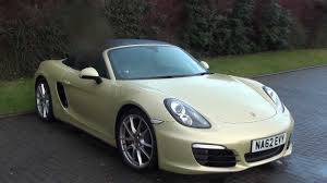 porsche gold our porsche 981 brand new boxster in gold youtube