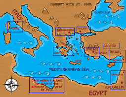 Biblical Map Of The Middle East by Ss John And Paul